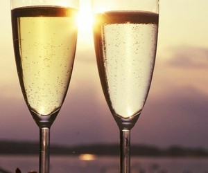 champagne, evening, and morning image
