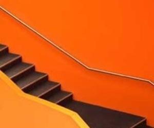 orange, stairwell, and tumblr image