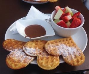 apple, sugar, and waffle image