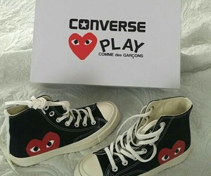converse, play, and comme des garcoons image