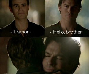 the vampire diaries, brothers, and damon image