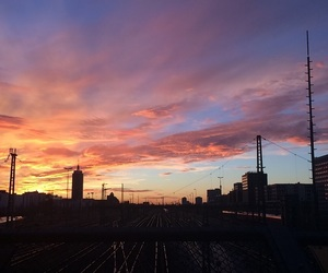 evening, night, and sonnenuntergang image