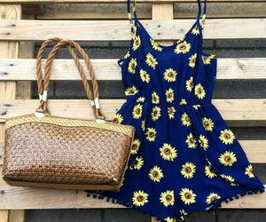 clothes, dress, and flowers image