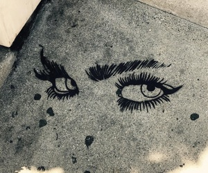 art, eyes, and eyebrows image