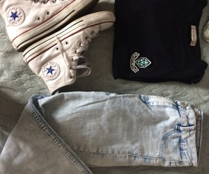 blue, jeans, and converse image
