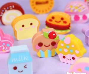 cute, eraser, and kawaii image