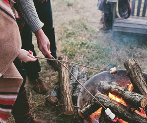 fire, nature, and vintage image