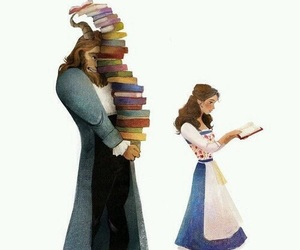 disney, beauty and the beast, and book image