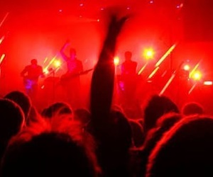 red, aesthetic, and concert image