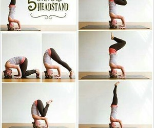 fitness, headstand, and workout image