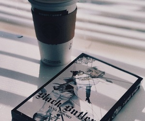 black butler, coffee, and latte image