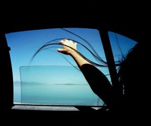 car, hair, and window image