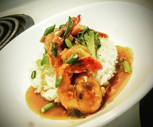 food, rice, and seafood image