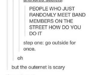 tumblr, bands, and funny image