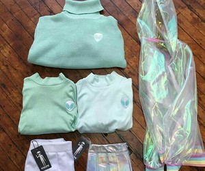 +, alien, and apparel image