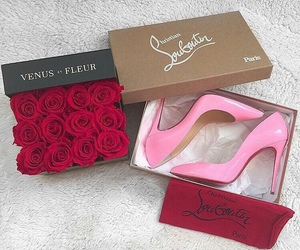 pink, louboutin, and rose image