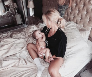 baby girl, little wolf, and blonde image