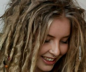 dreadlocks, girl, and dreads image