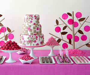 candy, pink, and cake image