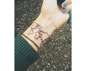 world and tattoo image