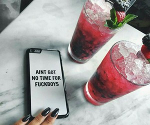 drink, nails, and cocktail image