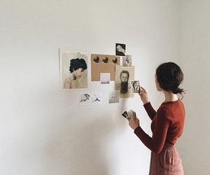 girl, art, and vintage image