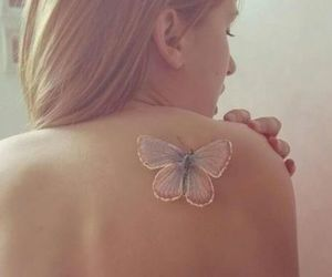 back, butterfly, and beauty image