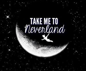 neverland, peter pan, and moon image
