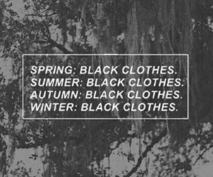 black, clothes, and spring image