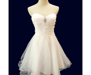 white prom dresses, white homecoming dresses, and cute graduation dresses image
