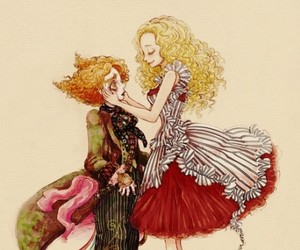 alice, alice in wonderland, and mad hatter image