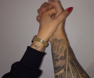 couple, tattoo, and goals image
