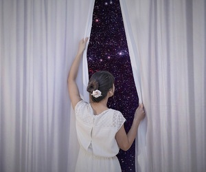 girl, space, and surrealism image