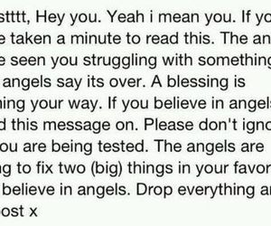 angel, text, and message image