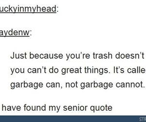 funny, garbage, and girls image