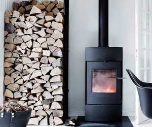 danish, farmhouse, and fireplace image
