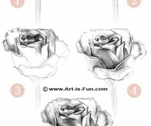 art, flowers, and how to draw image