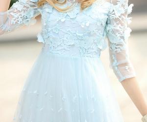 dress, feminine, and wedding image