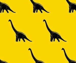 dinosaur, wallpaper, and yellow image