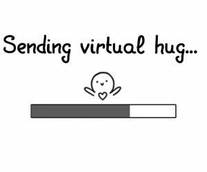 hug, virtual, and virtual hug image
