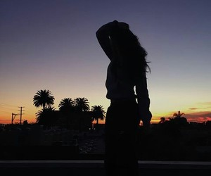 black, girl, and sunset image