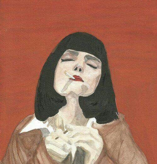 art, red, and pulp fiction image
