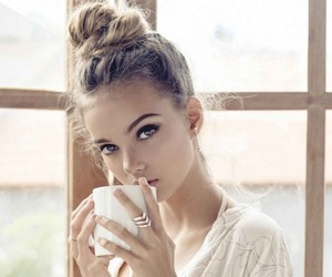 coffee, girl, and cute image