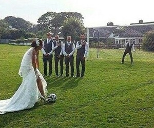 soccer, wedding, and couple image