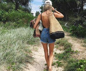 beach, denim, and summer image
