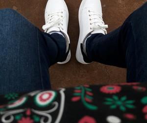 girl, sneaker, and ootd image