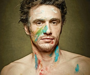 james franco, painting, and paint image