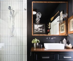 bathroom, chic, and industrial image