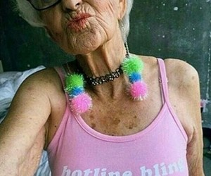 hotline bling, pink, and grandma image