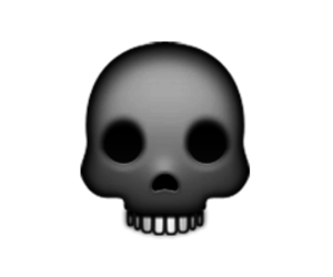 skull, smiley, and ios image